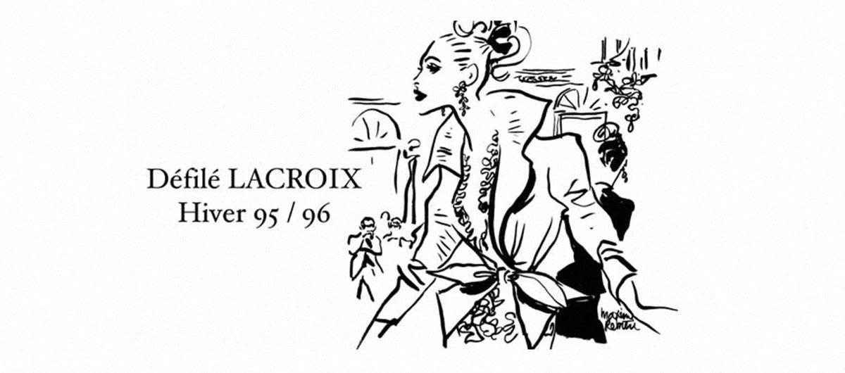 Defilé Chrisitian Lacroix 1995 - 1